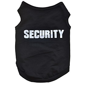 Cotton Black Security Vest Spring Summer Clothing Breathable and Cool  Clothes for Dog 5335432