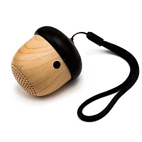 Miimall J2 Cute Wooden Nut Shape Rechargeable Ultra Portable Mini Wireless Bluetooth Speaker 5316649
