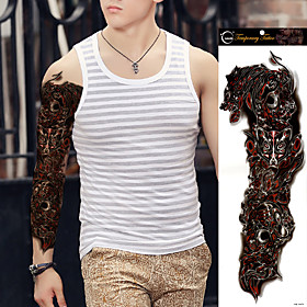 1Pcs  New Full Arm Waterproof Temporary Tattoo Stickers Fake Paste Sticker Large Tattoo Sleeves For Women Men 5330357
