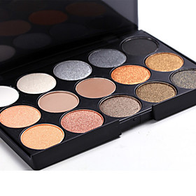 15 Eyeshadow Palette Dry / Mineral Eyeshadow palette Powder Set Daily Makeup / Halloween Makeup / Party Makeup 5339187