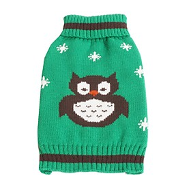 High Quality Halloween Grey Owl Red Green Orange Blue Dog Sweaters for Pets Dogs 5328205