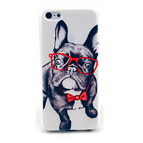 Happy Glasses Dog Pattern Hard Cover for iPhone 6 1795887
