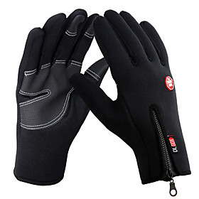 Unisex Black Full Finger Ski Gloves Touch screen Anti-slip Waterproof Wind Protection Gloves 764442