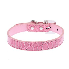 Dog Collar Adjustable/Retractable / Running / Hands free / Cosplay / Casual Leopard Red / Black / White / Blue / Pink PU Leather 5337959