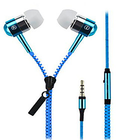 High Quality Zipper Stereo Headset with Mic/Volume Control/Noise-Cancelling for iPhone/Samsung and Others 5334741