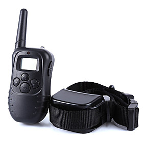 Dog Training Collar Dog Bark Collar Anti Bark 300M Remote Control Shock/Vibration Electronic LCD Display Black 4743553