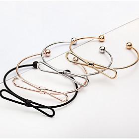 Women's Charm Bracelet Bracelet Bangles Cuff Bracelet - Bowknot Rock, Fashion, Open Bracelet Black / Silver / Rose Gold For Christmas Gifts Wedding Party