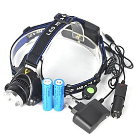Headlamps Headlight LED Cree XM-L T6 Emitters 5000 lm 1 Mode Anglehead Super Light Camping / Hiking / Caving Cycling / Bike Hunting