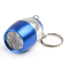 1 Key Chain Flashlights LED LED 6 Emitters 50 lm 1 Mode Small Size Camping / Hiking / Caving Everyday Use Blue Golden