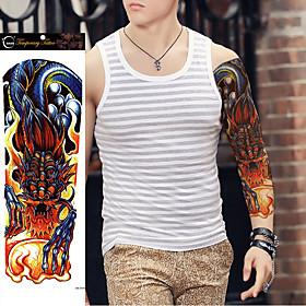 1Pcs New Styles Large Waterproof Fake Paste Leg Full Arm Paper Tattoo Sticker Sleeve On The Body Art For Men Women 5330356