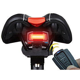 3 in 1 Bicycle Wireless Rear Light Cycling Remote Control Alarm Lock Fixed Position Mountain Bike Smart Bell COB Tailight USB Charging 5345019