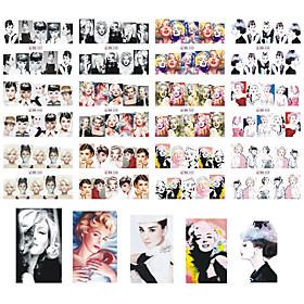 12 Neglekunst Klistermærke Vandoverførende decals Makeup Kosmetik Neglekunst Design 5348169