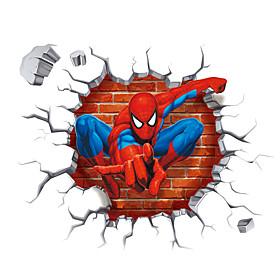 3D Cartoon Spider-Man Super Hero 3D Wall Stickers Removable Children's Bedroom Wall Decals 5310720