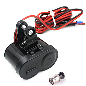 Motorcycle Waterproof GPS 1.5A USB Port Power Charger Cigarette Lighter Socket 5359611