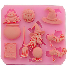 Halloween  Witch Products Pumpkins Sugar Cake Bread Mousse Jelly Prepared Food Color Random 8.770.9Cm 5310804