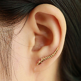 Women's Stud Earrings Ear Cuff Ear Climbers - Leaf, Wings Fashion, Elegant Silver / Golden For Daily Casual