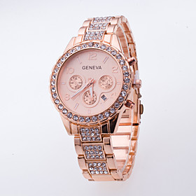 Women's Fashion Casual Wrist Watch Popular Dress Watch Of Rhinestone Generva Quartz Watch Ladies With Calendar Watch Men 5453892