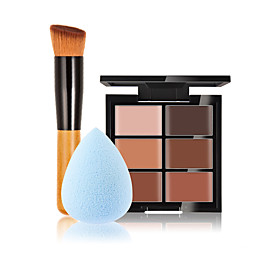 6 Concealer/ContourPowder Puff/Beauty Blender / Makeup Brushes Wet Face Concealer China Others 5407331