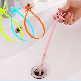 Smiling Face Sewer Hair Cleaning Device The Bathroom Sink Drain Cleaning Hook 510.5CM Random Color 5389608