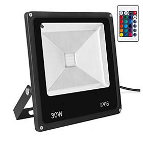 1pc 30 W Fari LED Impermeabile / Controllato da remoto / Oscurabile Colori primari 85-265 V Luci per esterni / Cortile / Giardino 5389945