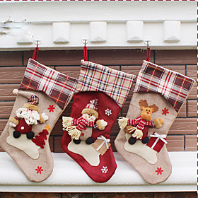 Holiday Decorations Animals / Snowmen / Santa Stockings Party / Novelty / Christmas 1pc