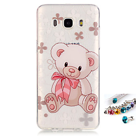 For Samsung Galaxy J7 J5(2016) G530 G360 Cover Case Bear Pattern Painting IMD Technology Tpu Material Phone Shell And Dust Plug Combination 5399753
