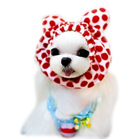Cat Dog Bandanas  Hats Dog Clothes Cute Holiday Fashion Leopard Coffee Red Pink Costume For Pets 5450272