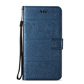 Case For Apple iPhone X / iPhone 8 / iPhone 8 Plus Wallet / Card Holder / with Stand Full Body Cases Elephant Hard PU Leather for iPhone X / iPhone 8 Plus / iP