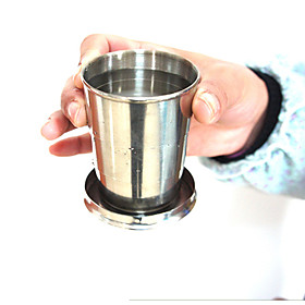 240ml Stainless Steel Portable Folding Telescopic Collapsible Outdoor Cup 5448874