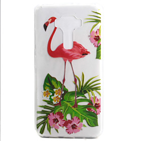 For ASUS Zenfone 3 ZE552KL Zenfone 3 ZE520KL Case Cover Flamingo Pattern High Permeability Painting TPU Material Phone Case
