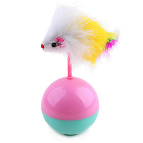 Cat Toy Pet Toys Ball Teaser Tumbler Mouse Random Color Plush 5421277