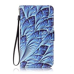 For Kortholder / Lommebok / med stativ / Flipp / Monster Etui Heldekkende Etui Blomst Hard PU-laer for Xiaomi Xiaomi Redmi Note 3