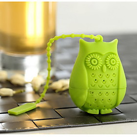 Cartoon Silicone Owl Bird Tea Infuser Loose Leaf Strainer Herbal SpiceFilter Tea Tools