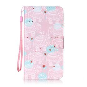 For Lommebok / Kortholder / med stativ / Flipp / Monster Etui Heldekkende Etui Elefant Hard PU-laer for Xiaomi Xiaomi Redmi Note 3