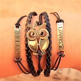Chain Bracelet Wrap Bracelet Vintage Bracelet - Leather Owl Inspirational Bracelet For Christmas Gifts Party Daily / Leather Bracelet