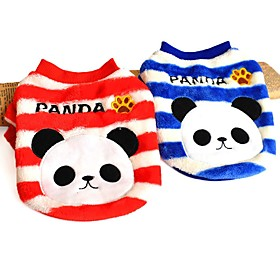 Stripe Design Panda Pattern Winter Vest for Pets Dogs (Assorted Sizes and Colours) 5378844