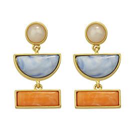 Women's Drop Earrings - Turquoise Orange For Daily