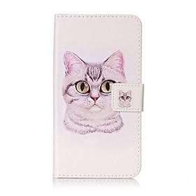 For Lommebok / Kortholder / med stativ / Flipp / Monster Etui Heldekkende Etui Katt Hard PU-laer for Xiaomi Xiaomi Redmi Note 3