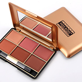 Professional Makeup Blusher Long Lasting 6 Color Minerals Powder Retro Face Base Blush Bronzers Contouring Make Up Palette 5414071