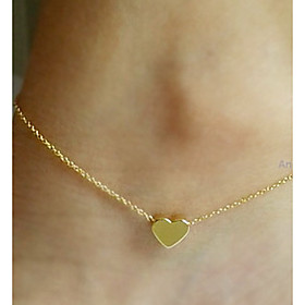 Anklet - Heart, Love European Silver / Golden For Wedding Party Daily Women's