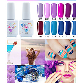 USA ONLY Fashing Purple color Blue color UVLED Lamp Gel Polish Color Gel Nail Gel Nail Polish 5415005