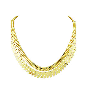 Punk Rock Double Layers Chunky Chain Necklace for Women 5458931