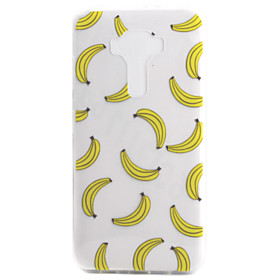For ASUS Zenfone 3 ZE552KL Zenfone 3 ZE520KL Case Cover Banana Pattern High Permeability Painting TPU Material Phone Case