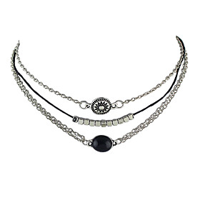 Women's Choker Necklace - Basic Silver Necklace Jewelry For Party, Daily, Casual