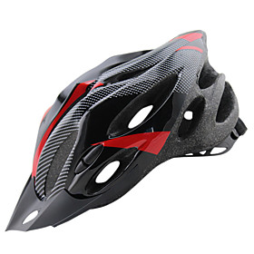 Adults Bike Helmet 20 Vents CE Impact Resistant, Light Weight, Adjustable Fit Carbon Fiber, EPS, PC Sports Road Cycling / Recreational Cycling / Cycling / Bike