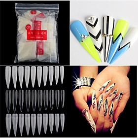 500pcs Nude White False Nail Art Tips French Acrylic UV Salon Nail Art Tools 5464425