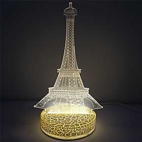 Effetto 3d torre di base in plastica di forma ha condotto la lampada di notte 5430774