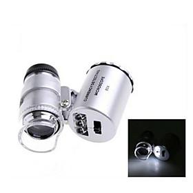 ZW-9882 60X Mini Plastic Optical Glass Lens Magnifier  (3LR1130) 1591613