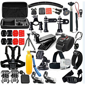 Accessory Kit For Gopro 46 in 1 Adjustable Waterproof Floating Dust Proof For Action Camera Gopro 5 Xiaomi Camera Gopro 4 Gopro 4 Silver 4892958