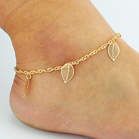 Anklet Barefoot Sandals Chains - Roses, Leaf, Flower Basic, Double-layer, Bikini Golden For Wedding Party Daily Women's / Leg Chain